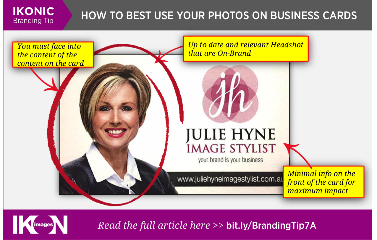How to best use your photographs on your Business Cards - IKON IMAGES